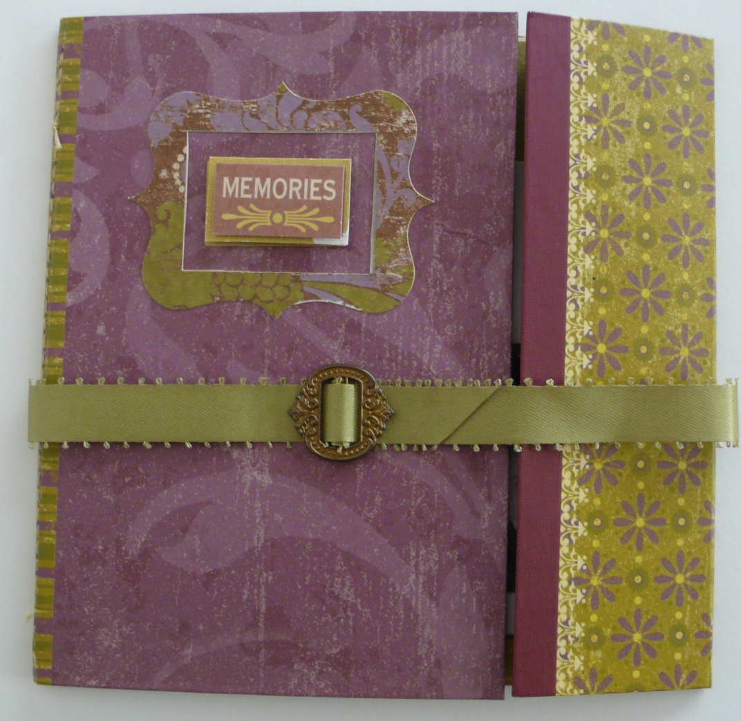 How to make scrapbook album cover - For A Quick And Easy Idea Take Some Polaroid Shots Cut A Cover From A Pretty Piece Of Patterned Cardstock Punch Holes In The Corners And Tie Together